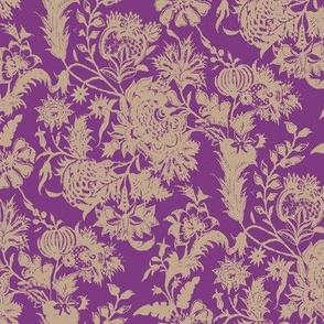 Chintz TOILE_purple jacobean small