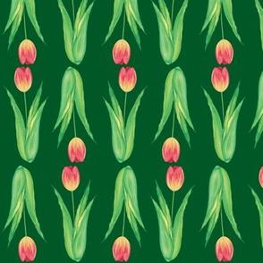tulips 2 (dark green)