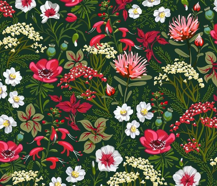 Little Red Herb Garden | Large |  Deep Green