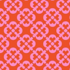 PINK RETRO FLOWERS