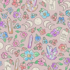 Witchy Garden (pink)