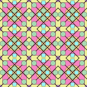 Geometric Stained Glass #4 Small