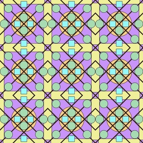 Geometric Stained Glass #3 Small