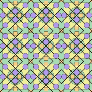 Geometric Stained Glass #1 Small