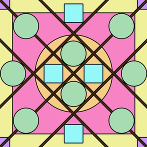 Geometric Stained Glass #4 Large