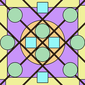 Geometric Stained Glass #3 Large