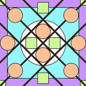 Geometric Stained Glass #2 Large
