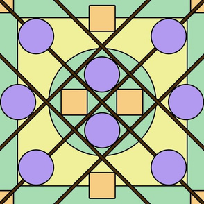 Geometric Stained Glass #1 Large