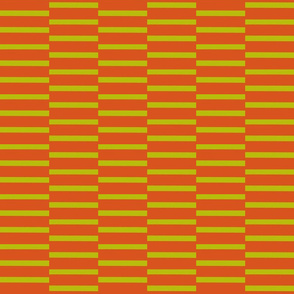 binding stripes, red orange-green