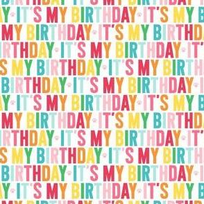 paws its my birthday XSM rainbow UPPERcase