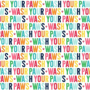 paws wash your paws rainbow with navy UPPERcase