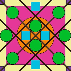 Geometric Stained Glass #8 Large