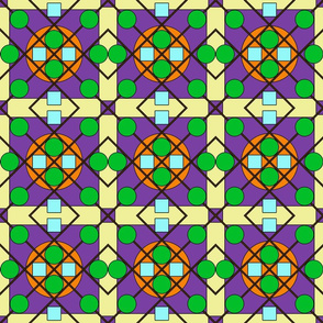 Geometric Stained Glass #7 Small