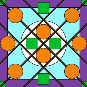 Geometric Stained Glass #6 Large