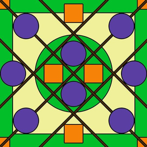 Geometric Stained Glass #5 Large