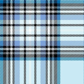 LG blue tartan style 1 with 8in repeat