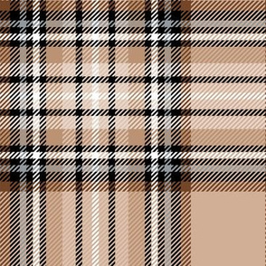 LG brown tartan style 1 with 8in repeat