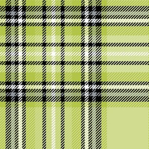 LG green lime tartan style 1 with 8in repeat