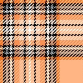 LG orange tartan style 1 with 8in repeat