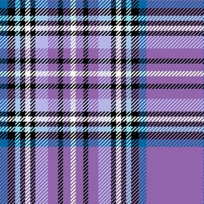 LG purple blue tartan style 1 with 8in repeat