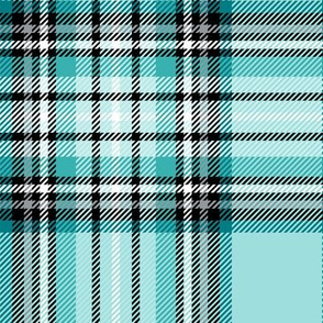 LG teal tartan style 1 with 8in repeat
