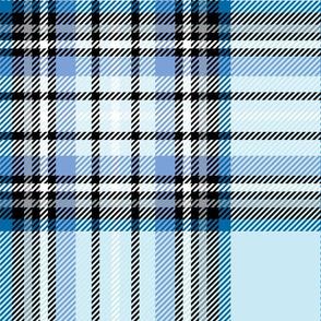 JUMBO blue tartan style 1 - 12in repeat