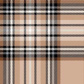 JUMBO brown tartan style 1 - 12in repeat