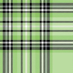JUMBO green apple tartan style 1 - 12in repeat