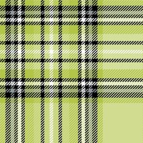JUMBO green lime tartan style 1 - 12in repeat