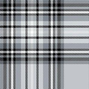 JUMBO grey tartan style 1 - 12in repeat