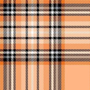 JUMBO orange tartan style 1 - 12in repeat
