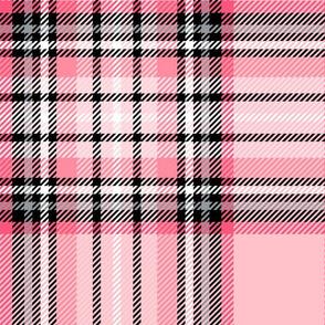 JUMBO pink tartan style 1 - 12in repeat