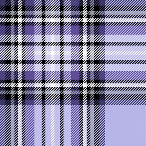 JUMBO purple tartan style 1 - 12in repeat