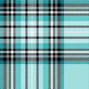 JUMBO teal tartan style 1 - 12in repeat