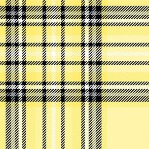 JUMBO yellow lemon tartan style 1 - 12in repeat