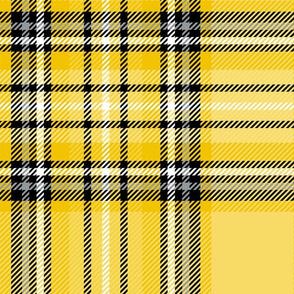 JUMBO yellow mustard tartan style 1 - 12in repeat