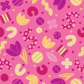 Fun Shapes_Pink_Laura Wayne Design