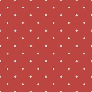 Beige Dots on red