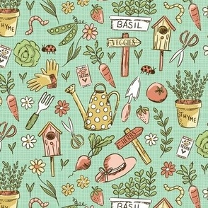Veggie and Herb Garden - Green
