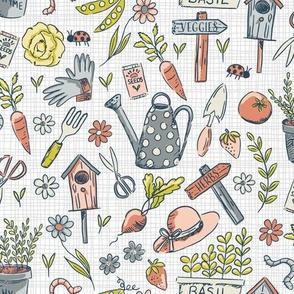 Herb and Vegetable Garden-Grey