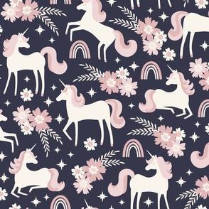 Unicorn Dreams // LARGE // Gray Pink Cream