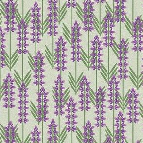 lavender on green