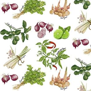 Tom Yum Herbs (White)