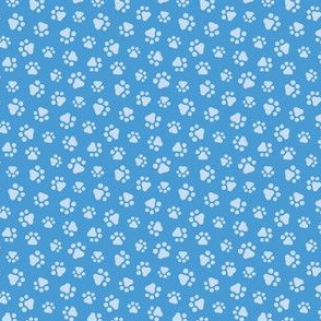 Super Cool Dog_Paw Prints_Dark Blue_Laura Wayne Design