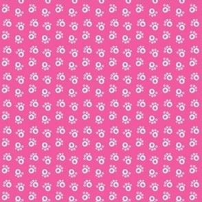 Cool Cat_Paw Prints_Dark Pink_Laura Wayne Design
