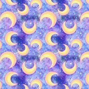Moons on purple nebula SMALL SCALE