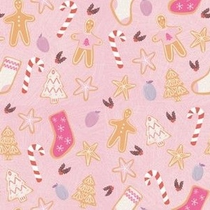 Gingerbread Cookie Christmas in Pink