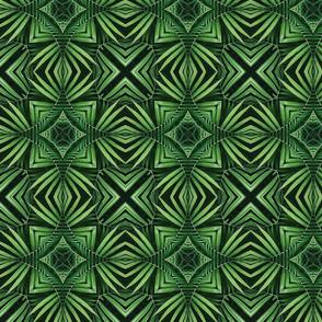 Palm Leaf Design Kaleidoscope Style Smaller Scale