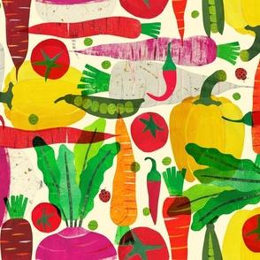Large Papercut Vegetables Aribombari