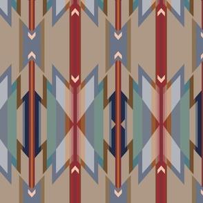 Wyeth Navajo Style Blanket Stripes
